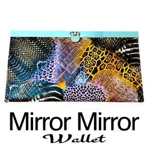 Mirror Mirror Women's Snakeskin Like Wallet